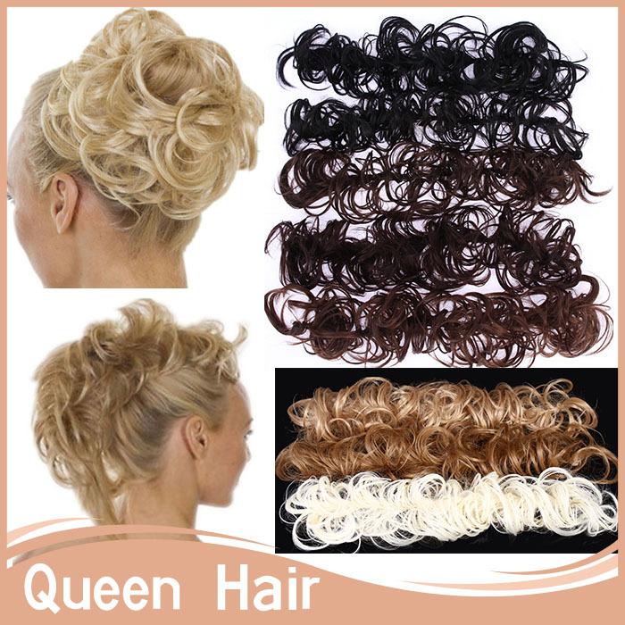 10Pcs/Lot Scrunchie Hair Elastic Pony Tail Hair Ties Bangs Wig Makeup Hair Bun Rope Accessories Ponytail Holder Mutli-color(China (Mainland))