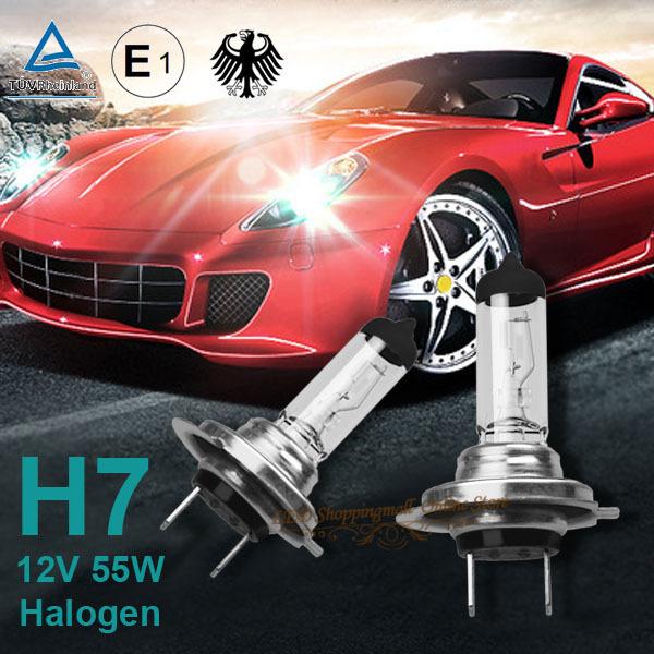 High quality 4pcs/lot H7 12V 55W PX26D E4 clear car headlight halogen lamp EMARK quartz glass stainless steel focusing(China (Mainland))