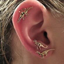 Boho rock animal dinosaur metal stud earring multiple stud set earrings for women men 3Pairs/Set