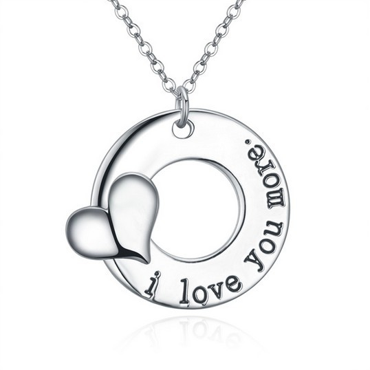 18 Styles Silver Plated Long Alphabet Necklace Pendants Valentine s Day Gift Lovers Romantic Fashion Mother