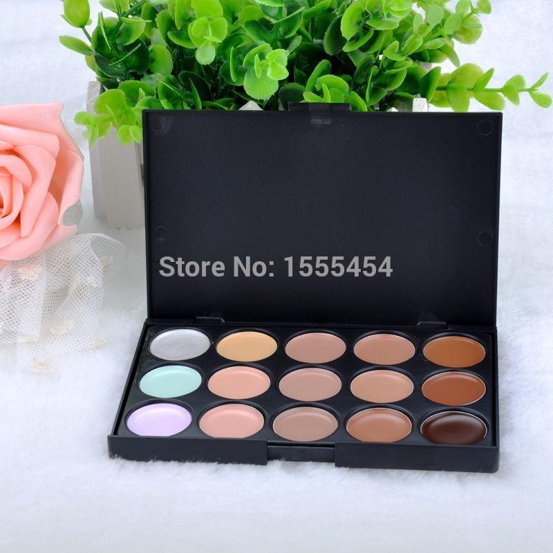 FREE shipping Hot Sale Professional makeup 15Colors Contour Palette Face Cream Makeup Concealer Palette Contouring Makup Palette(China (Mainland))