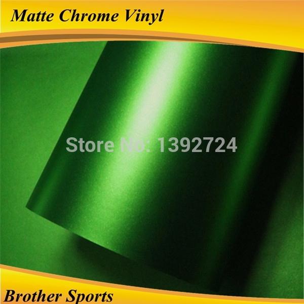 High quality matte chrome car wrap vinyl roll film and metallic bubble free car decoration sticker 1.52*20m(China (Mainland))
