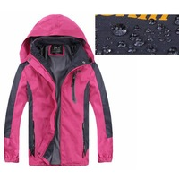 Waterproof Windproof SoftShell Jacket Hooded Outdoor Hiking Camping Clothes