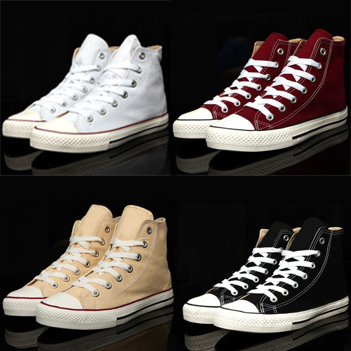 Free Shipping Men Women Fashion High Top Style Canvas Shoes Lace Up Casual Breathable Sneakers size 35-44 MA4078(China (Mainland))