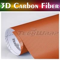TeckWrap Car Sticker Hot Sale 11 Colors gloss black 3d carbon fiber car wrap vinyl film with air free bubble
