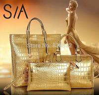 2015 New Designer Women's Tote Bag 3Psc/LOT Women Messenger Bags +Women Shoulder Bags+Purse bags handbags women famous brands