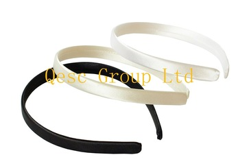 13mm satin headband,ideal for sinamay fascinators or hair accessories.black,white,cream color.