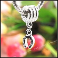 30pcs/lot New Horseshoe Screw Pendant Beads 2.5cm Fit Charms Necklace  150179