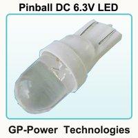 100 pcs/lot, Any quantity available, Pinball led DC 6.3V, 194-1
