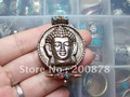 TGB030  Tibetan Buddha face Amulet pendant,Round GAU Prayer box,32mm