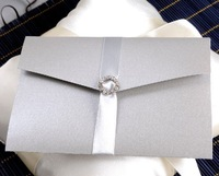 Invitation card. Wedding invitation, business invitation card, HDSZ-S, with ribbon decoration, free shipping