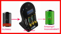 New style aa aaa alkaline rechargeable battery activator for camera and car toy, Multifunction charger and green. Free shipping