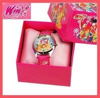 Lots 1 PCS Winx Club watch Wristwatches WITH BOX GIFT