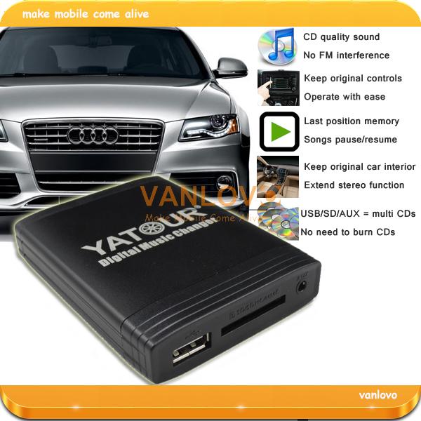 YATOUR Digital Music Changer AUX SD USB MP3 Interface for Audi Concert 3, Chorus 3, Symphony 3, RNS-E (Gift: 8GB USB Keys)(China (Mainland))