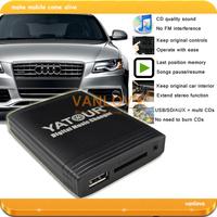 YATOUR Digital Music Changer AUX SD USB MP3 Interface for Audi Concert 3, Chorus 3, Symphony 3, RNS-E (Gift: 8GB USB Keys)