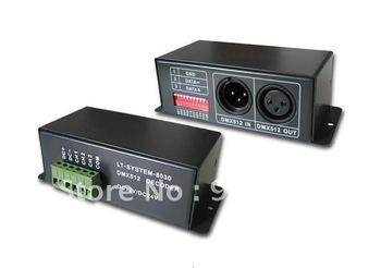 2xLT-8030 FREE SHIPPING,LED DMX PWM DECODER DMX RGB CONTROLLER 8030(5-24V, 5AX3) CONSTANT VOLTAGE, FOR RGB STRIP/MODULE CONTROL
