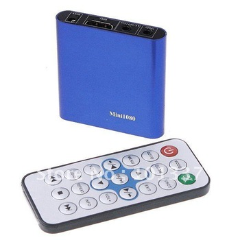 Free Shipping!MINI Full HD 1080P HDD Media Player -1080P MKV H.264 DIVX DTS MP3 DVD AVI-SD USB MINI1080P,3D HD TV Partner