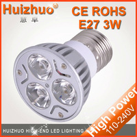 Free shipping wholesale 3W E27 warm white ,white high power energy saving led bulbs,E27 spotligh with high quality