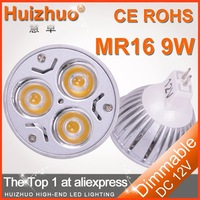 20pcs/lot [Huizhuo Lighting]high power LED BULB light/ 12VAC/DC 3*1W MR16 LED spotlight white