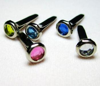 PROMOTION! Mixed color Scrapbooking jewel Brads, rhinestone acrylic brad,Free Shipping, 4.5mm round