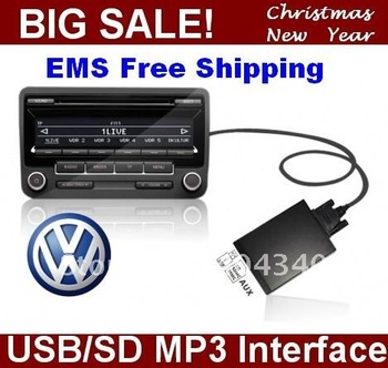 Car MP3 Audio Player USB SD Aux-IN interface for V.W Polo/Golf/Jetta/Passat/Tugan RCD 300 RCD500 MFD 2 RNS 300 RNS2 12P Radio