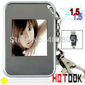 x-mas gift 1.5 inch LCD mini Digital Photo Frame for picture digital album electronic with Keychain christmas gift dropshipping(China (Mainland))