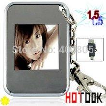 regalo de Navidad de mini LCD de 1,5 pulgadas marco de fotos digital de imagen del álbum digital electrónico con el regalo de Navidad Llavero dropshipping(China (Mainland))