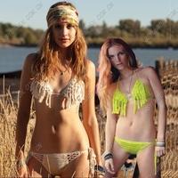 Pure hand-crocheted angel pineapple spend two skirt bikini swimsuit factory direct wholesale