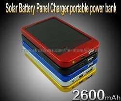 2600MAH Solar Battery Panel Charger portable power bank power mobile for Cell Mobile Phone MP3 Camera(China (Mainland))