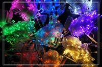 30M 300 LED Bulbs Christmas Twinkle Lights Portalbe Dancy Party Holiday Decoration Light Mixed lot 10pcs/Lot