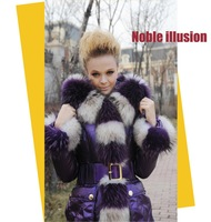 2011 Hot Fashion Down Coat BLESSEDLY Woman Coat Long Warm Winter Down Coat Elegance Violet