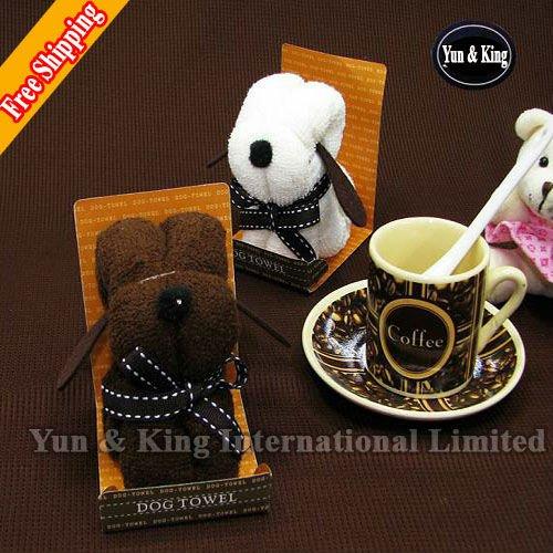 Promotion~Free Shipping Wholesale For Children Kids Wedding Lover Gifts 5pcs Big Size Animal doggy gift cake towel cake(China (Mainland))