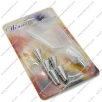 Free shipping,6pcs Cake decorating nozzles set(including 1pcs coupler&1pcs piping bag)
