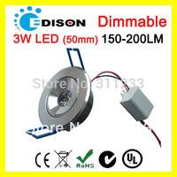 CE RoHS SAA 150lm LED Spot Light Ceiling Lamps 3W 110V- 240V