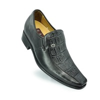 4020-Italian style leather height increase shoes with Rubber hidden insole gain you  7 CM  taller