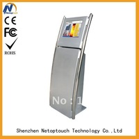 Free standing information kiosk with touch panel