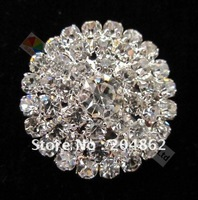 Free Express Shipping 200pcs/lot, 25mm Sliver Czech Crystal Rhinestone Button