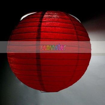 Free Shipping + 10pcs/lot 12'' Chinese Lantern Style, Red Paper Lantern-J03221