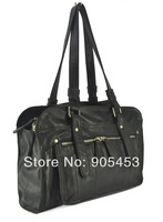 Black and Grey Color Free Shipping Wholesale And Retail Zipper Pocket in the front Fashion Women Bags 2013 Handbag CSC002