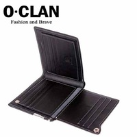 OLDCLAN  Free Shipping wholesale+ Credit Card holder 100% genuine Spain leather wallet Purse for men 2011 fashion QY0006-1