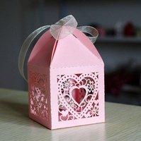 laser cut paper heart shape free logo custom available wedding box