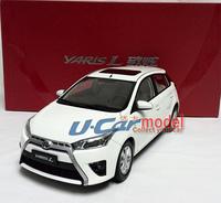 1pcs 1:18 China TOYOTA  YARIS L 2014 die-cast car model (New arrival) White