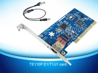 Promoting Price free shipping TE110P E1 card T1 card J1 card ISDN PRI card support SS7 voip ippbx call center trixbox elastix