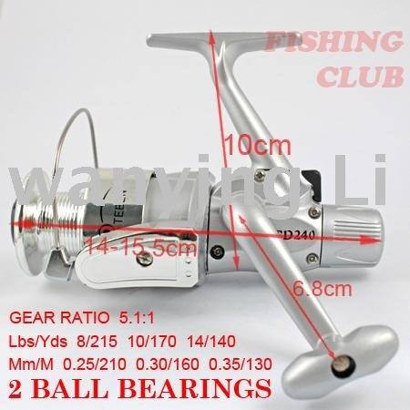 fishing reels free shipping 100% new plastic fishing reels 2 Ball bearing spinning reels 5.1:1 fishing tackle YL63wholesale(China (Mainland))