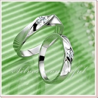 good factory price 925 sterling silver ring wedding,2011 fashion designer pair ring jewelry with free beautiful gift box WR065