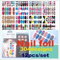 New arrive  Salon express 50 Random designs  Nail foil Trendy nail wraps Nail Art Stickers