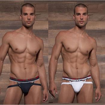 Male cotton Thongs famous brand men's sexy underwear S M L