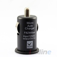 1A Mini Black USB Car Charger for iPhone 5 4 4S, All Cell phones - 50 pcs, Free Shipping