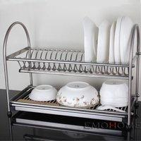 Stainless Steel Dish Drainer, drying Rack, Cutlery Holder, Dish Drainer, Utensil Tool Holder, Kitchen shelf  N.W 3KG more