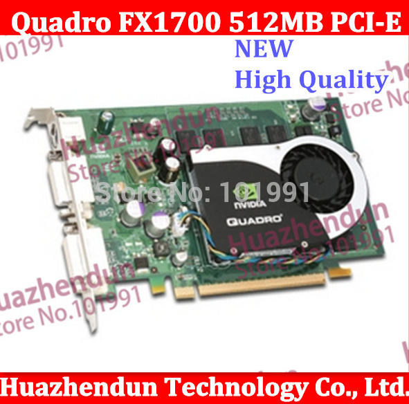 Special offer Original Quadro FX1700 512MB PCI-E Workstation Video Card from factory 1year warranty(China (Mainland))